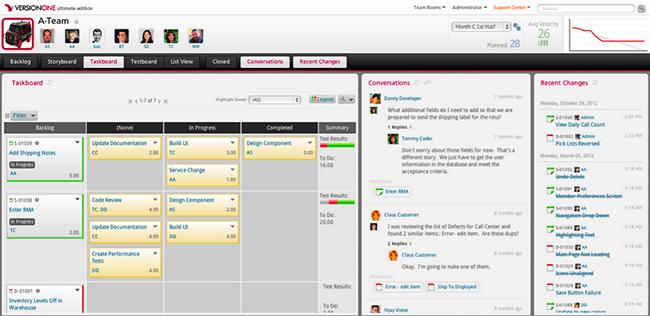 scrum tools_versionone
