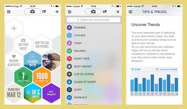 Mobile app for fitness