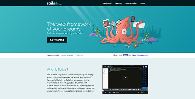 node js framework sails