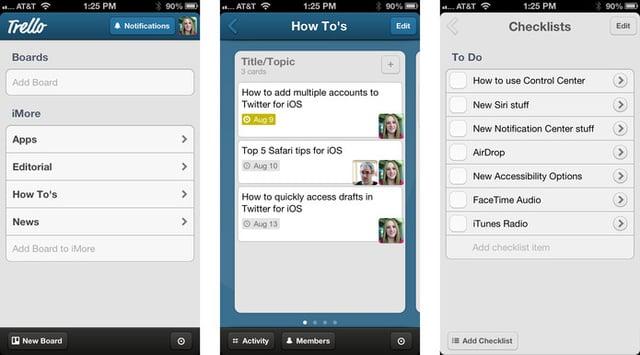 Trello iOS app